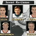 Sergei Fedorov, Vladimir Konstantinov, Igor Larionov, Viacheslav Fetisov, and Vyacheslav Kozlov in The Russian Five (2018)