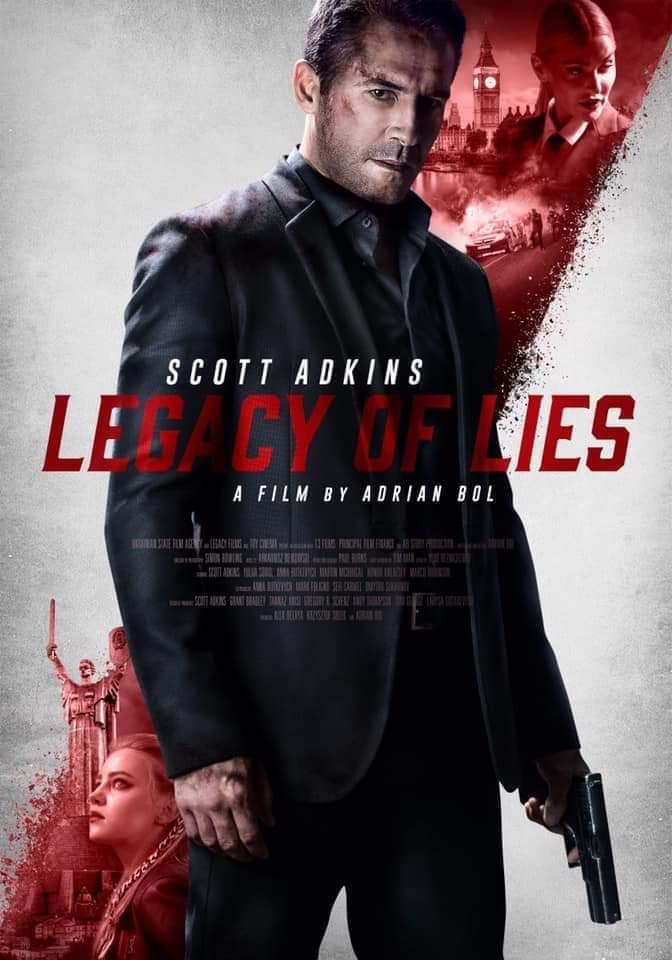 Scott Adkins, Anna Butkevich, and Yuliia Sobol in Legacy of Lies (2020)
