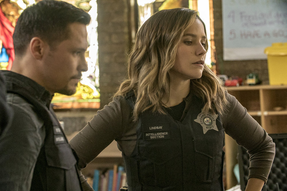 Sophia Bush and Nick Wechsler in Chicago P.D. (2014)