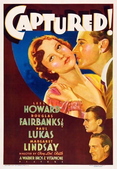 Douglas Fairbanks Jr., Leslie Howard, Paul Lukas, and Margaret Lindsay in Captured! (1933)