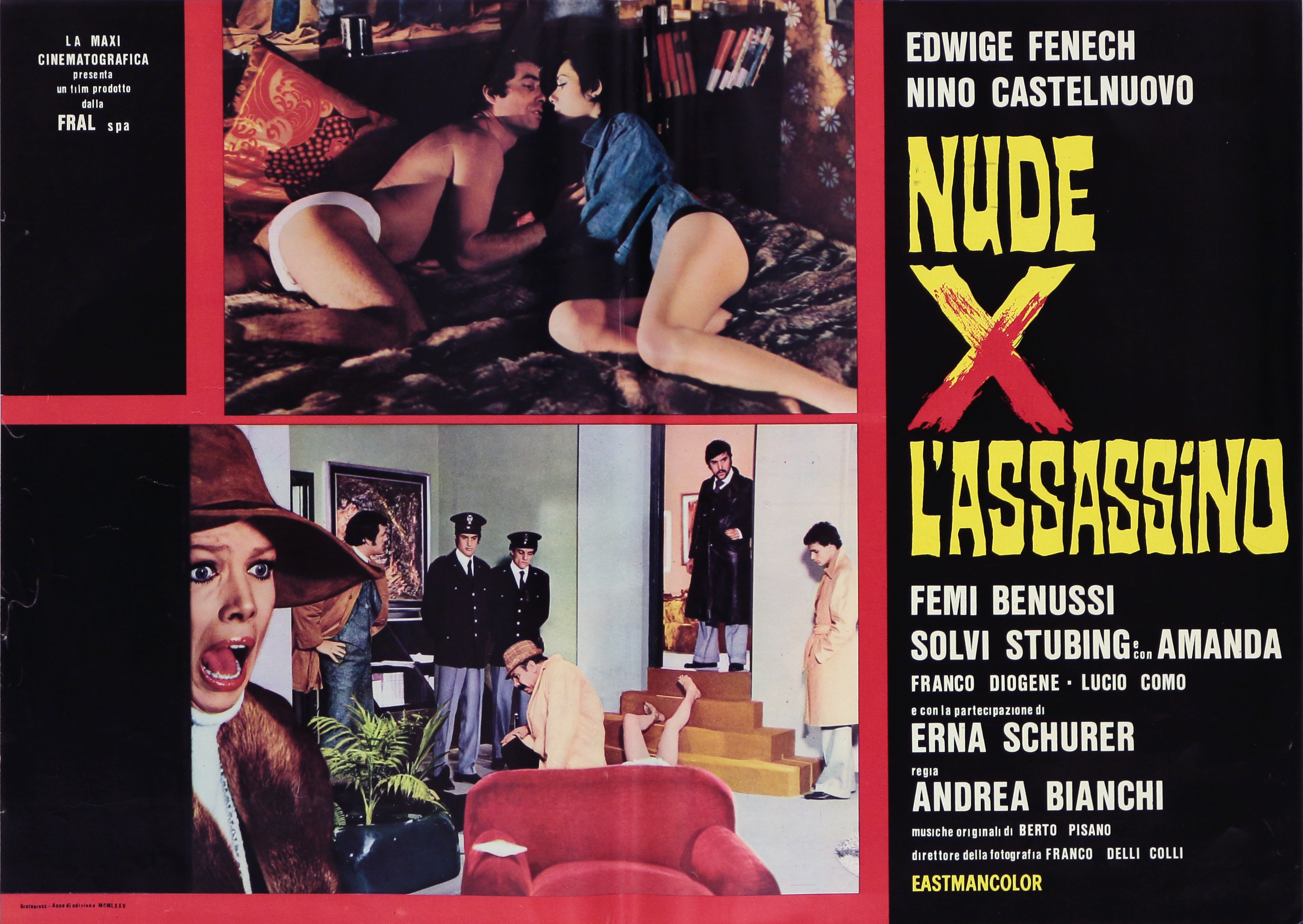 Nino Castelnuovo, Edwige Fenech, and Solvi Stubing in Nude per l'assassino (1975)