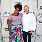 Jacques Torres and Nicole Byers at an event for Nailed It! (2018)