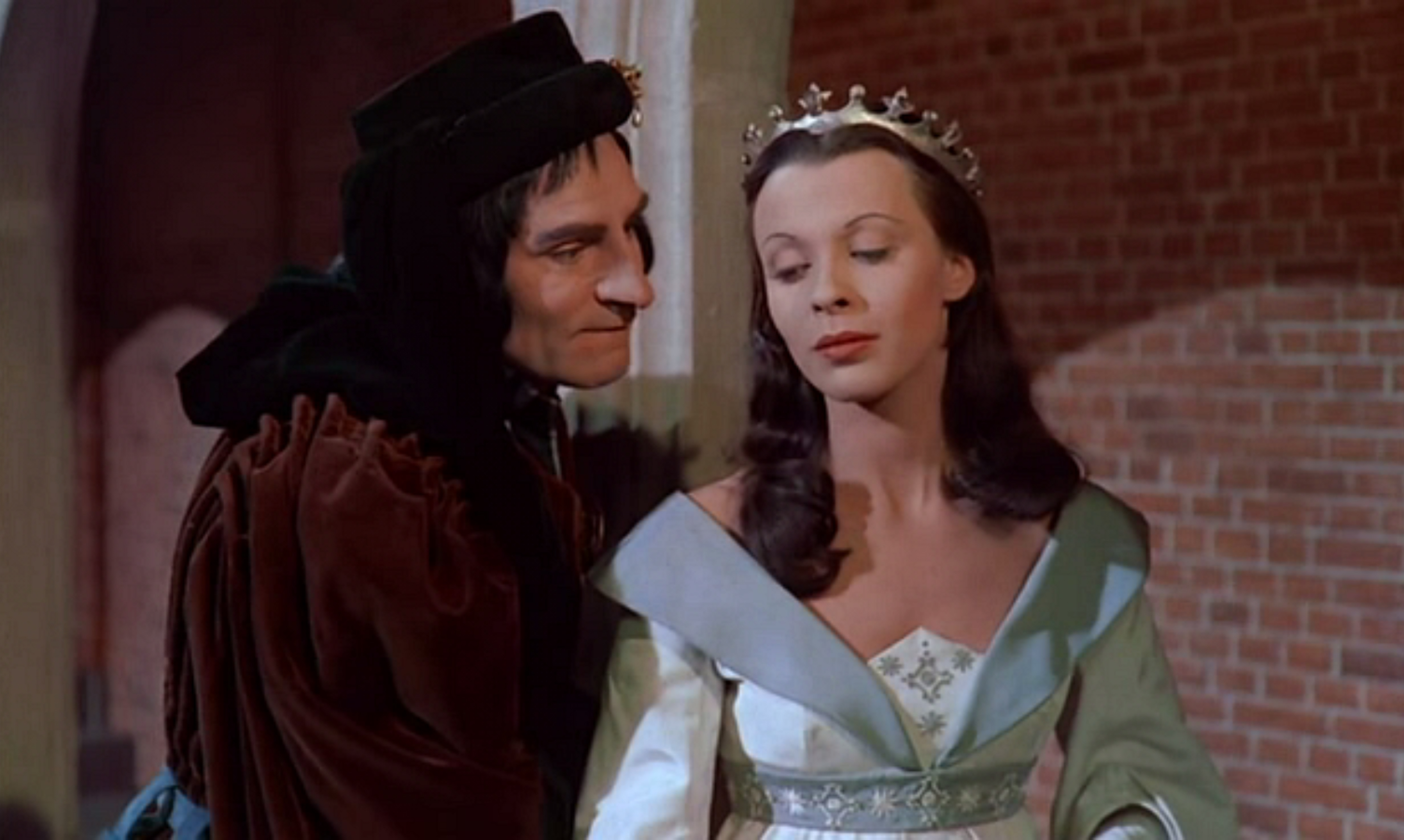 Laurence Olivier and Claire Bloom in Richard III (1955)