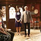 Ted Danson, Kristen Bell, Marc Evan Jackson, Jameela Jamil, and D'Arcy Carden in The Good Place (2016)