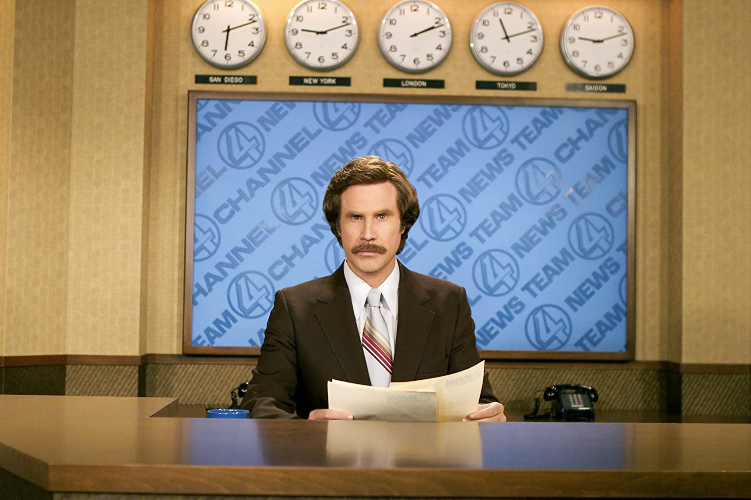 Will Ferrell in Anchorman: The Legend of Ron Burgundy (2004)