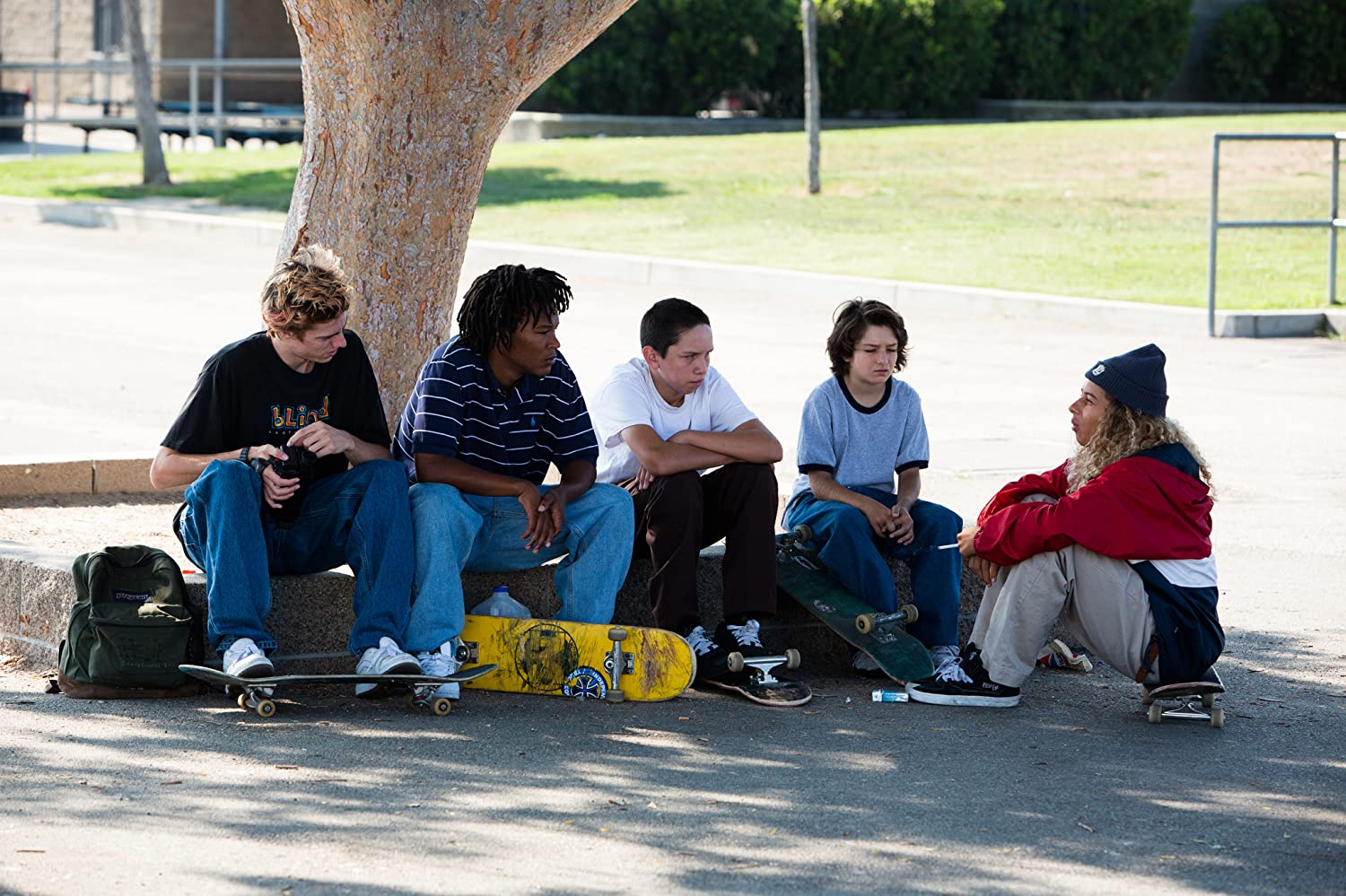 Olan Prenatt, Sunny Suljic, Na-kel Smith, and Ryder McLaughlin in Mid90s (2018)