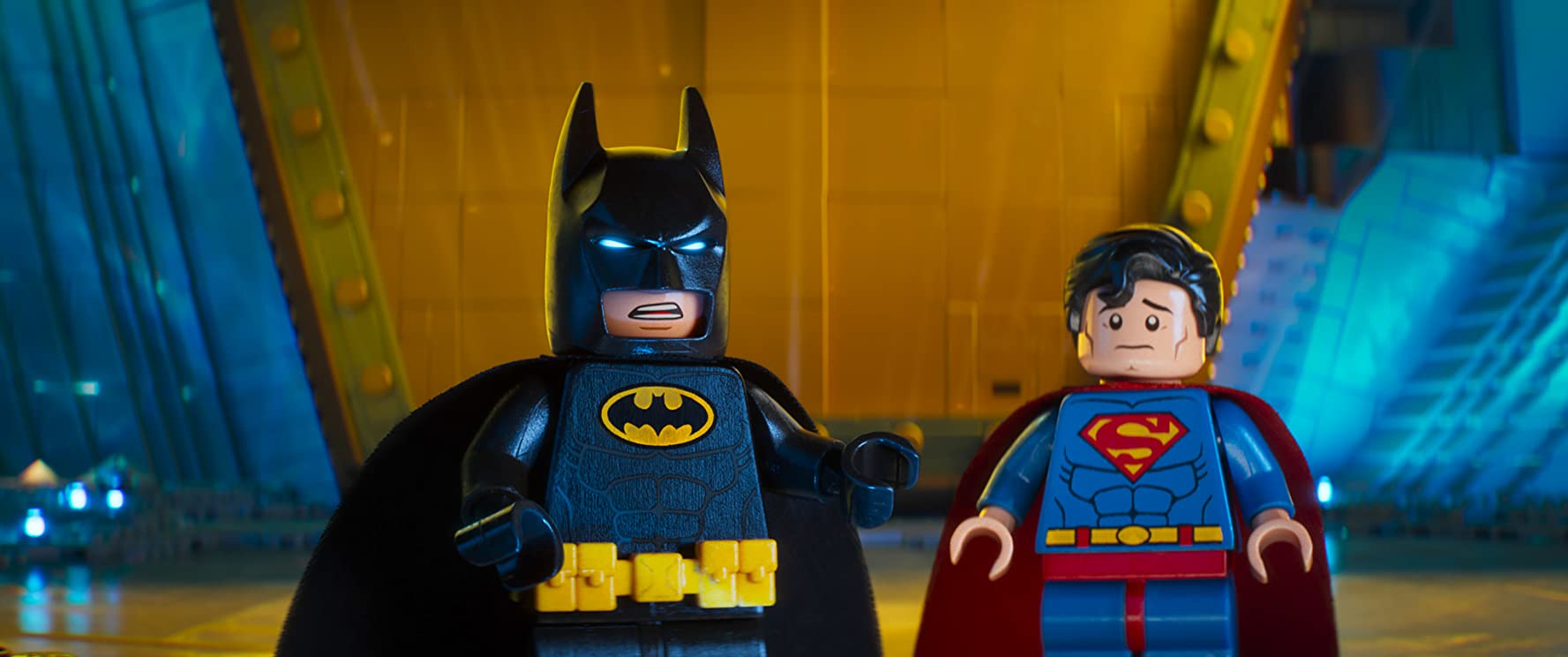 Will Arnett and Channing Tatum in The Lego Batman Movie 2017