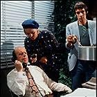Veronica Carlson, Roger Lloyd Pack, and John Savident in Spyder's Web (1972)
