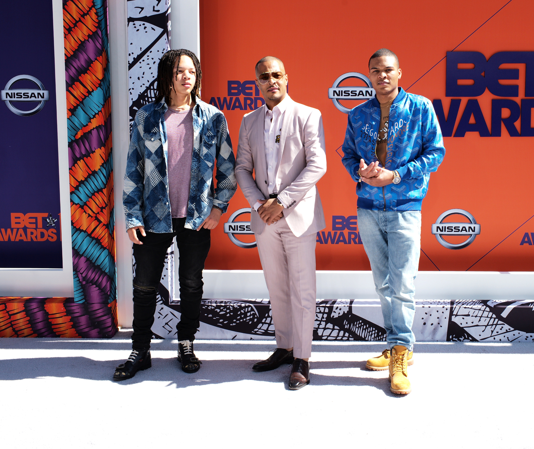 T.I., Messiah Harris, and Domani Harris at an event for BET Awards 2018 (2018)