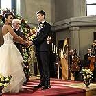 William Katt, Grant Gustin, Candice Patton, and Carlos Valdes in The Flash (2014)