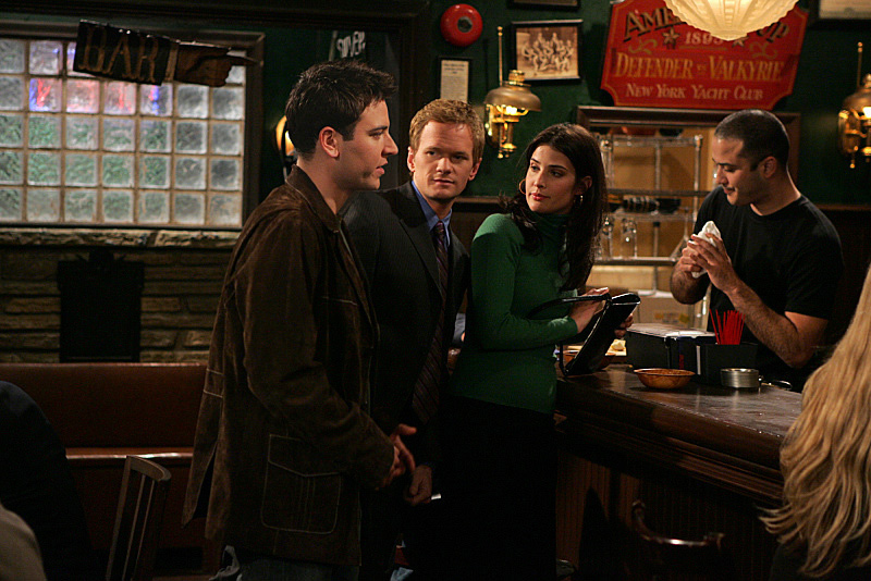 Neil Patrick Harris, Joe Nieves, Josh Radnor, and Cobie Smulders in How I Met Your Mother (2005)