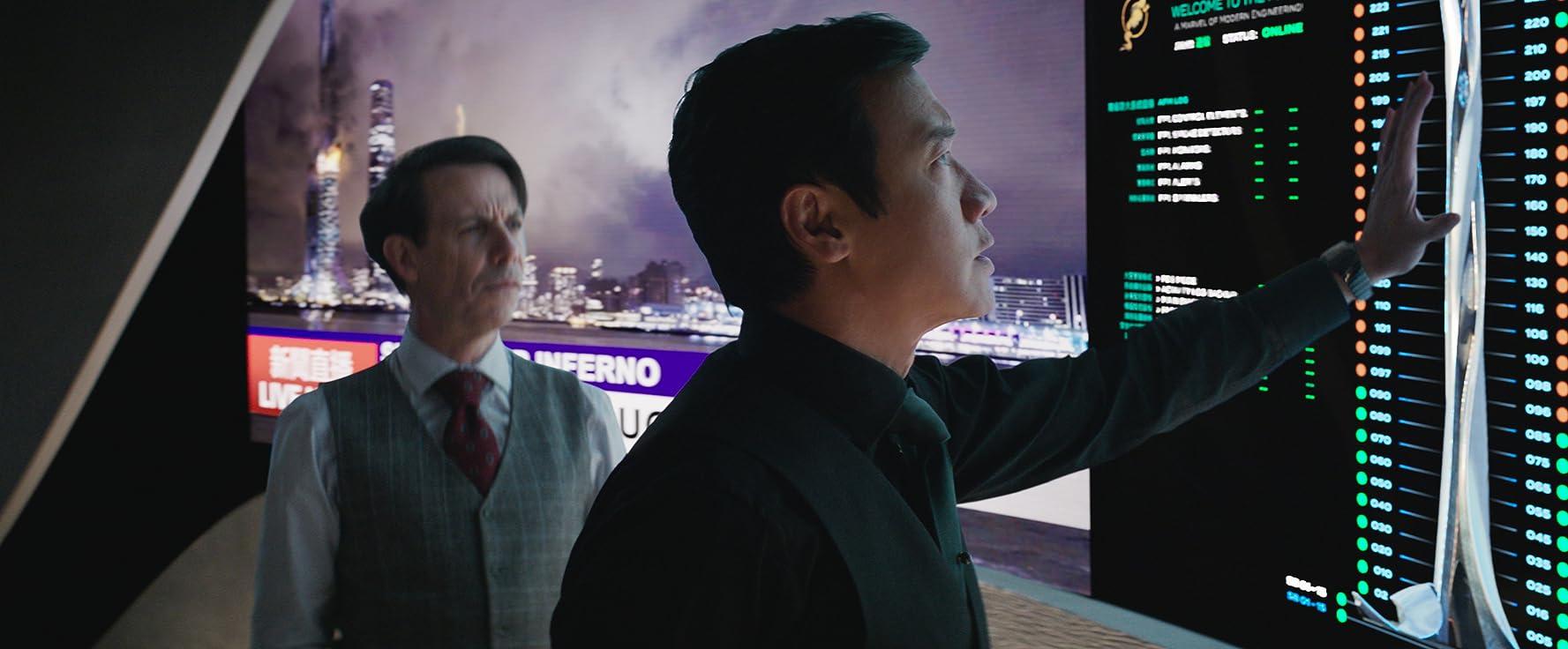 Noah Taylor and Chin Han in Skyscraper (2018)