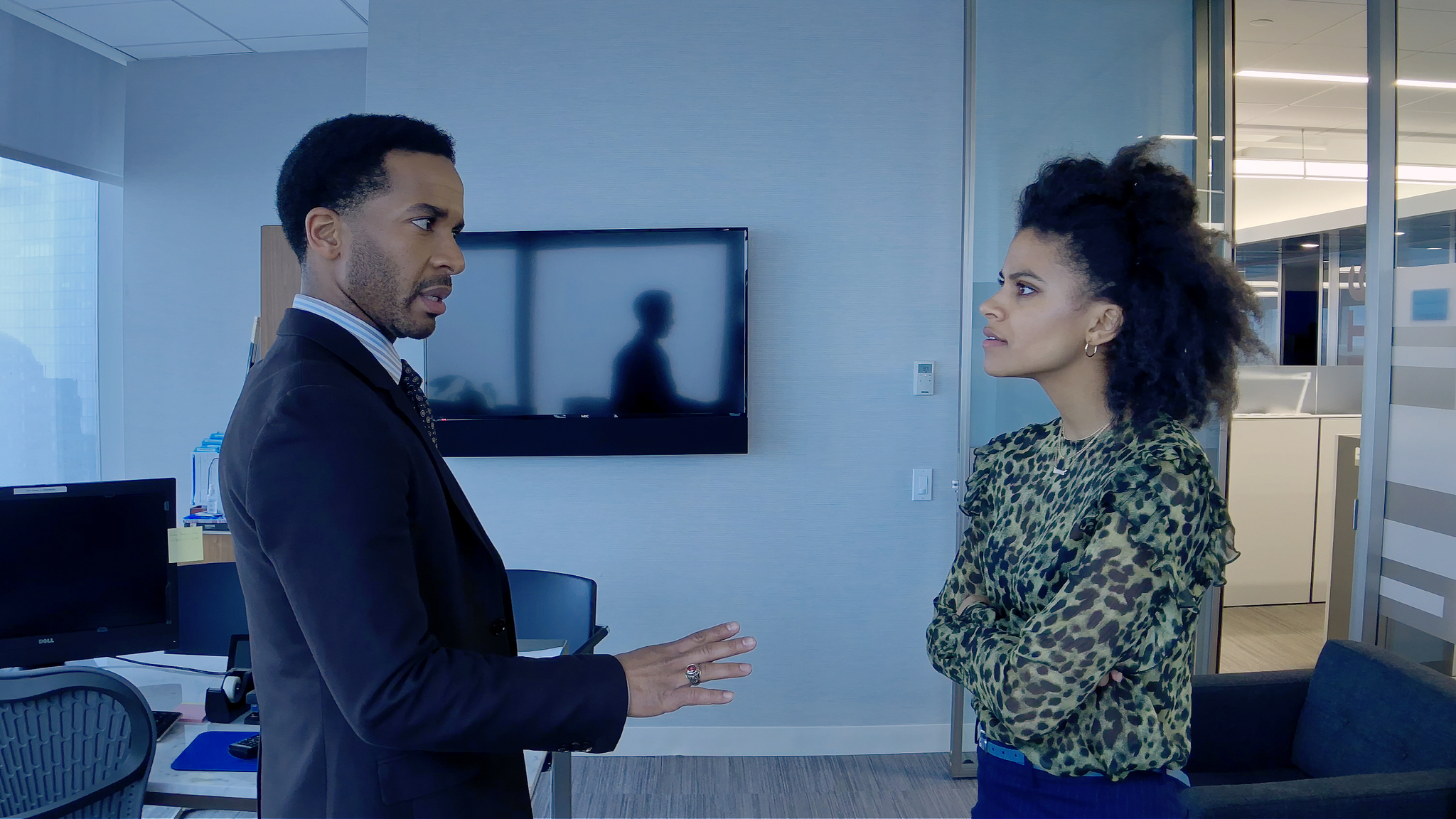 André Holland and Zazie Beetz in High Flying Bird (2019)