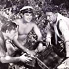 Lon Chaney Jr., John Bromfield, and Victor Jory in Manfish (1956)