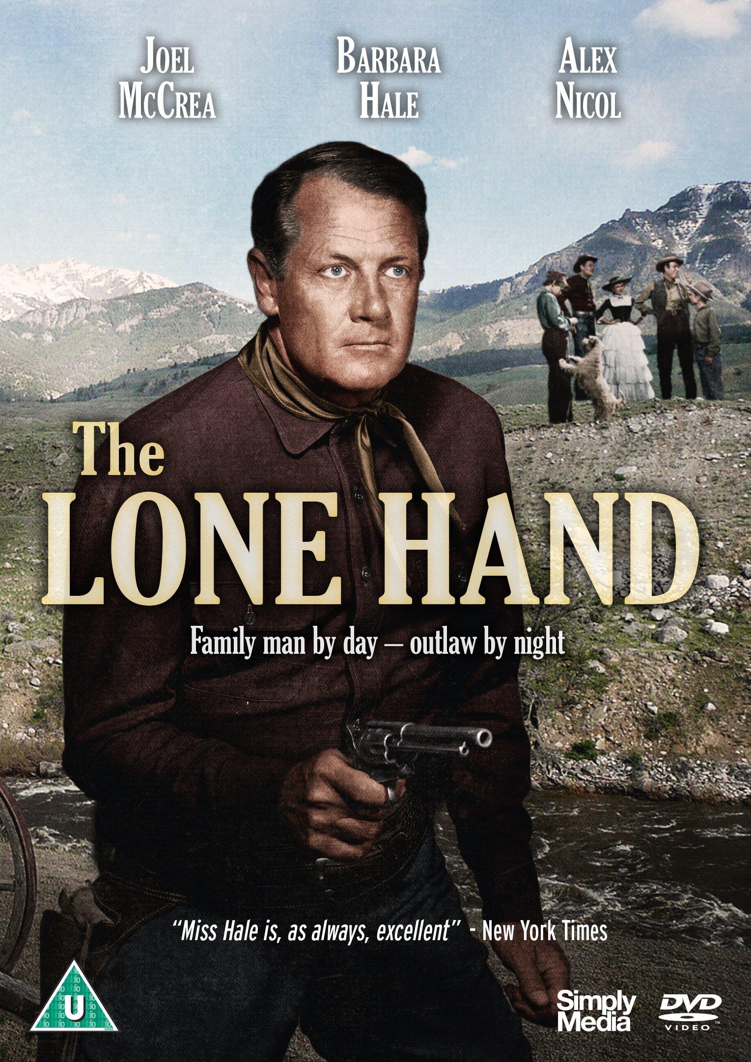 Barbara Hale, Jimmy Hunt, Joel McCrea, and Wesley Morgan in The Lone Hand (1953)