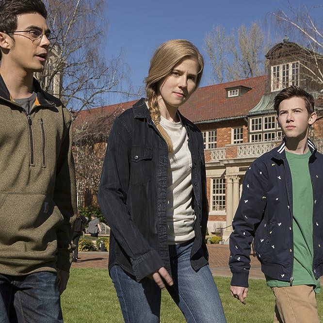 Griffin Gluck, Taylor Dearden, and Tyler Alvarez in American Vandal (2017)