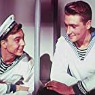 Sergei Gurzo and Vyacheslav Tikhonov in V mirnye dni (1951)