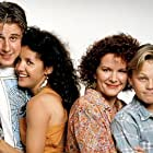Leonardo DiCaprio, David Arquette, Maryedith Burrell, and Bess Meyer in Parenthood (1990)