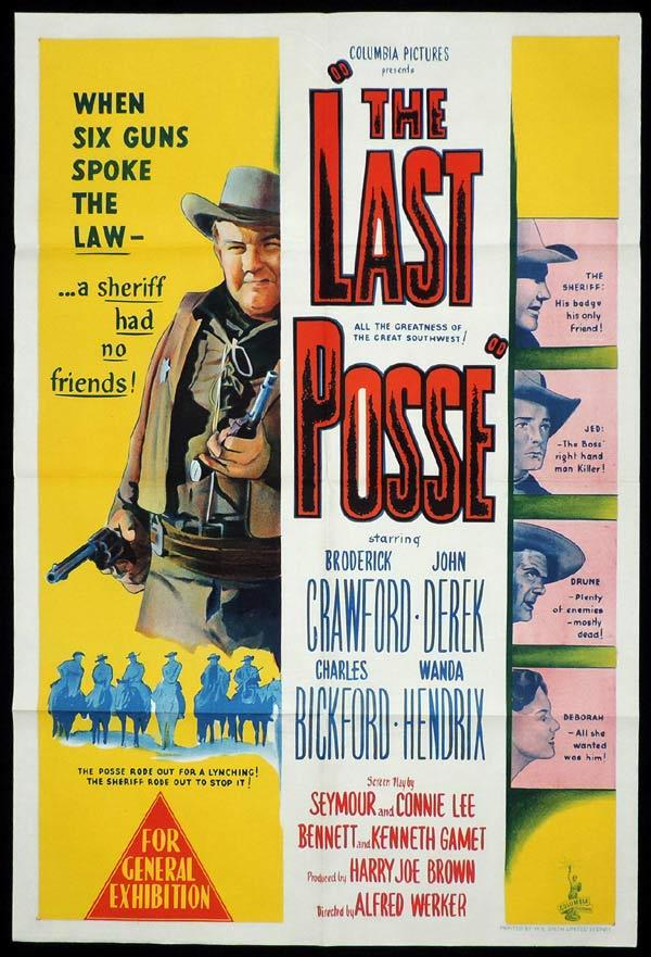 John Derek, Charles Bickford, Broderick Crawford, and Wanda Hendrix in The Last Posse (1953)