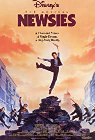 Christian Bale and Max Casella in Newsies (1992)