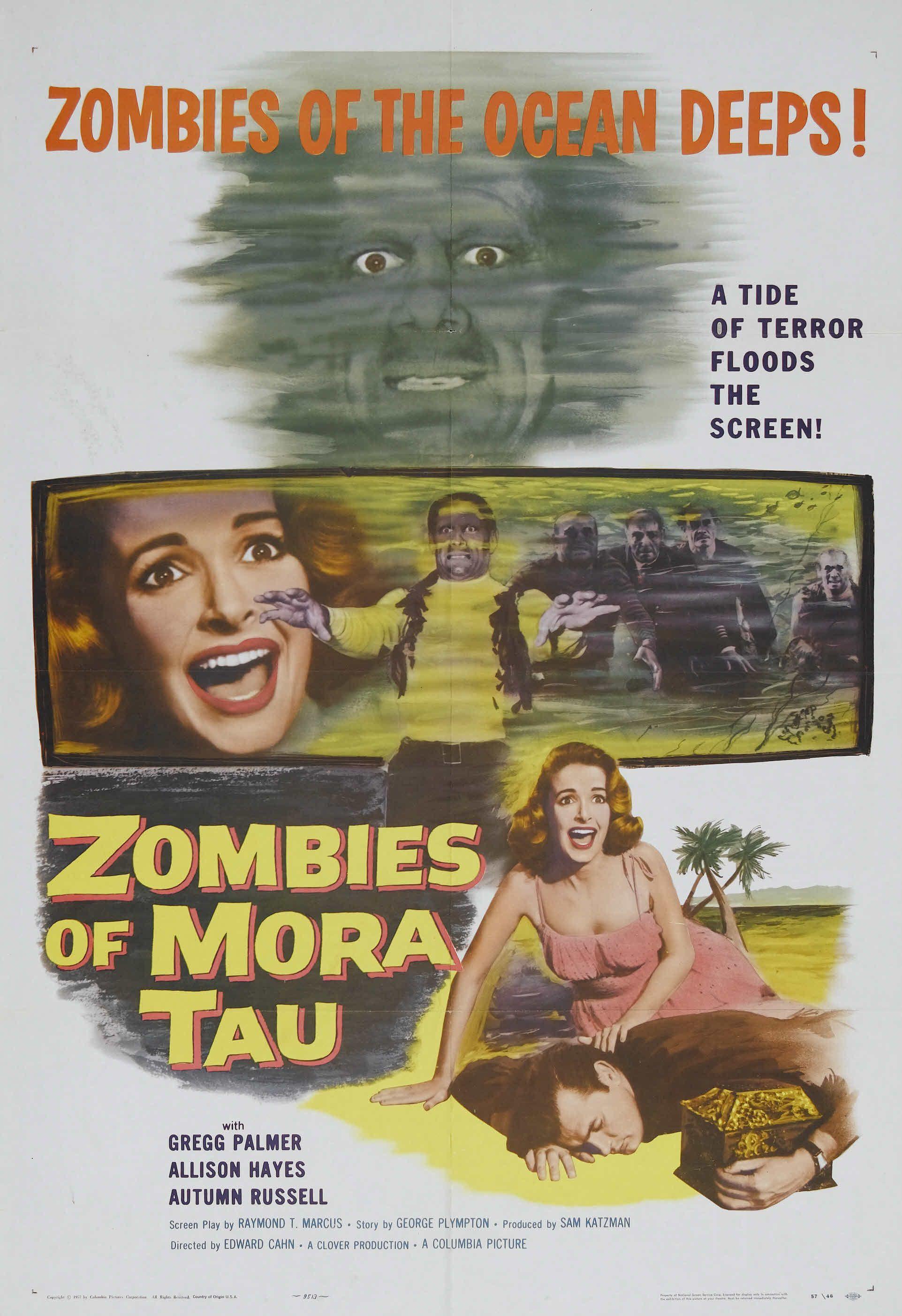 Zombies of Mora Tau Gregg Palmer Horror movie poster