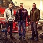 Matt LeBlanc, Chris Harris, and Rory Reid in Top Gear (2002)