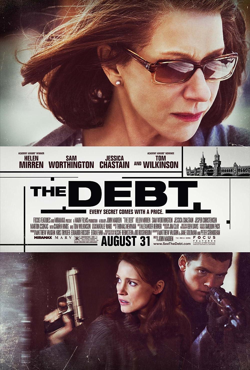 The Debt 2010 Hindi Dual Audio 480p BluRay ESub 400MB x264 AAC