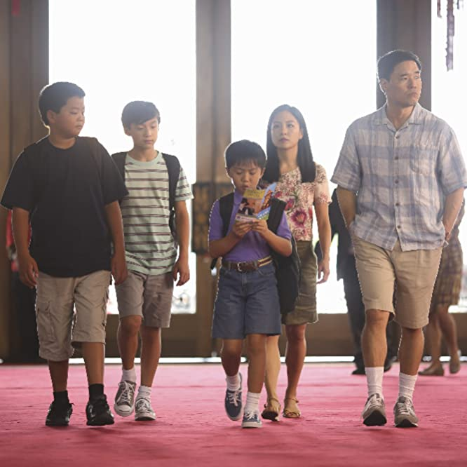 Randall Park, Constance Wu, Forrest Wheeler, Ian Chen, and Hudson Yang in Fresh Off the Boat (2015)