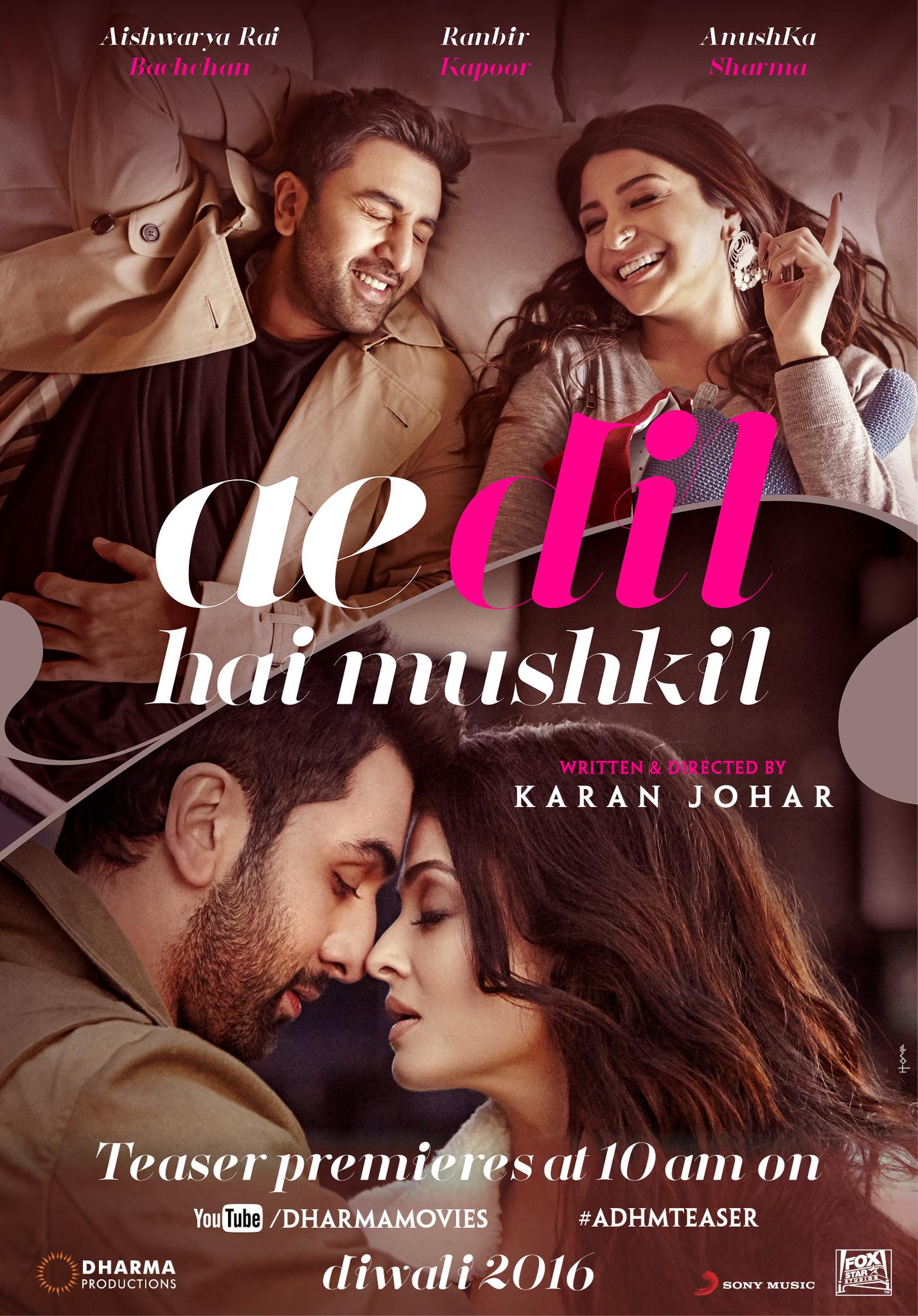 Image result for ranbir kapoor ae dil hai mushkil poster