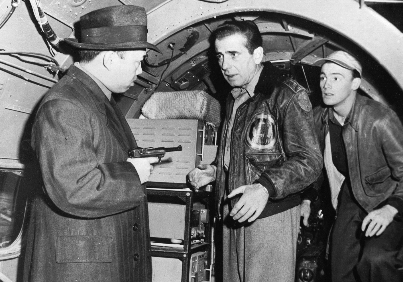 Humphrey Bogart, Jerome Courtland, and Teru Shimada in Tokyo Joe (1949)