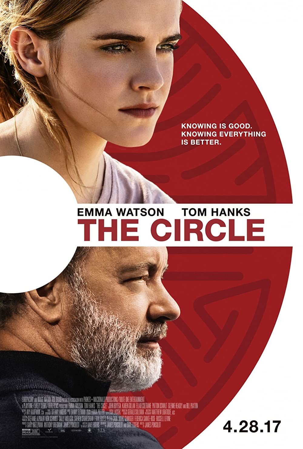 The Circle: Directed by James Ponsoldt. With Emma Watson, Ellar Coltrane, Glenne Headly, Bill Paxton. A woman lands a dream job at a powerful tech company called the Circle, only to uncover an agenda that will affect the lives of all of humanity.