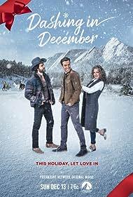 Andie MacDowell, Juan Pablo Di Pace, and Peter Porte in Dashing in December (2020)
