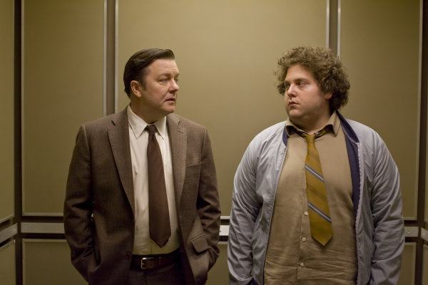Ricky Gervais and Jonah Hill in The Invention of Lying (2009)
