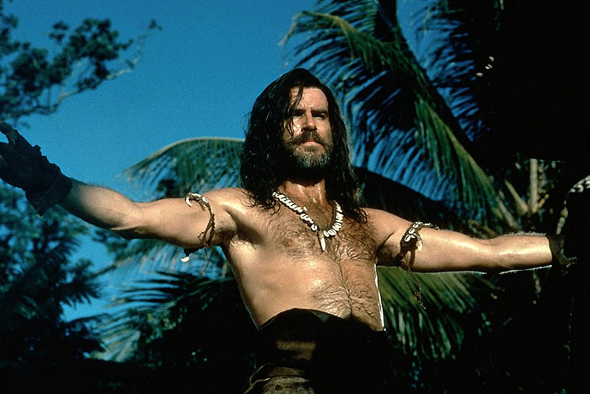 Pierce Brosnan in Robinson Crusoe 1997