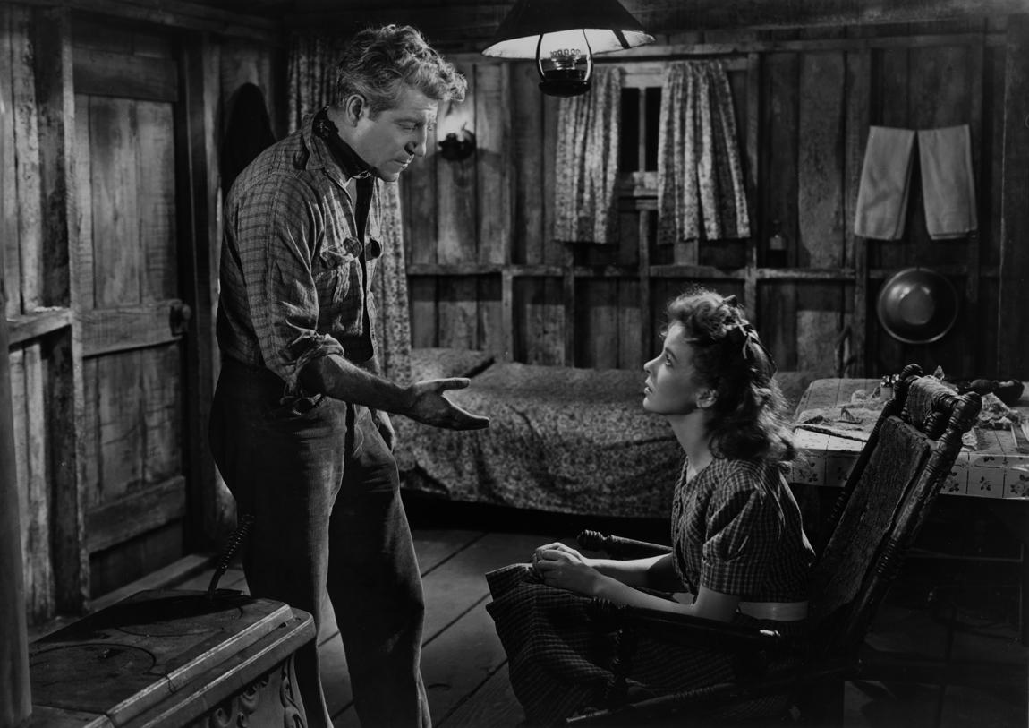 Jean Gabin and Ida Lupino in Moontide (1942)