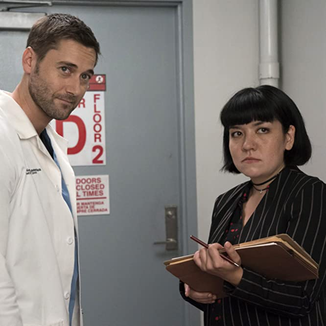 Ryan Eggold and Anna Suzuki in New Amsterdam (2018)
