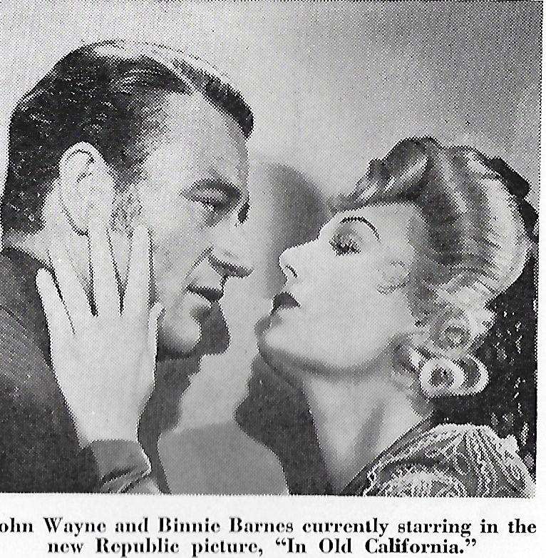 John Wayne and Binnie Barnes in In Old California (1942)