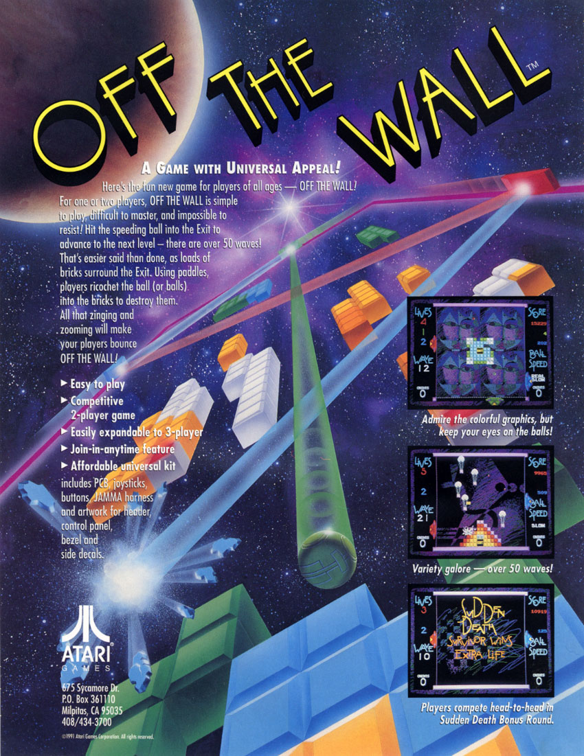 Off The Wall Video Game 1991 Imdb