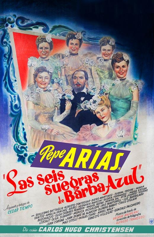 Pepe Arias in Las seis suegras de Barba Azul (1945)