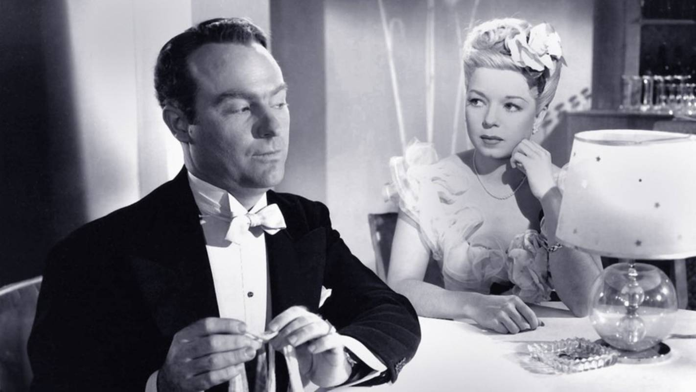 Ralph Edwards and Frances Langford in The Bamboo Blonde (1946)