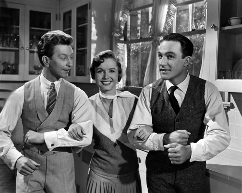 Gene Kelly, Debbie Reynolds, and Donald O'Connor in Singin' in the Rain (1952)