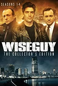 Kevin Spacey, Jonathan Banks, and Ken Wahl in Wiseguy (1987)
