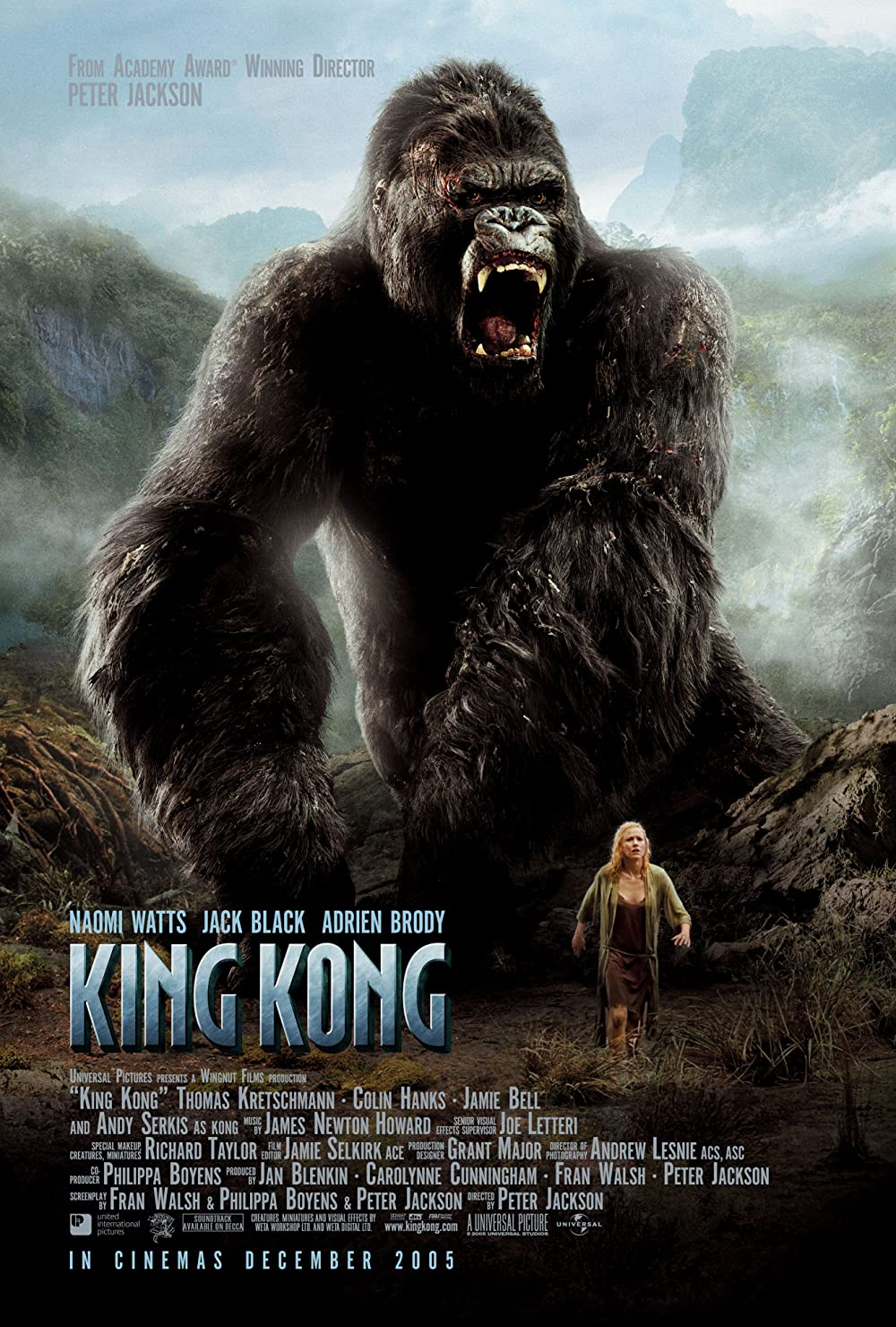 Download King Kong 2005 Hindi Dual Audio 480p Extended BluRay ESubs 680MB