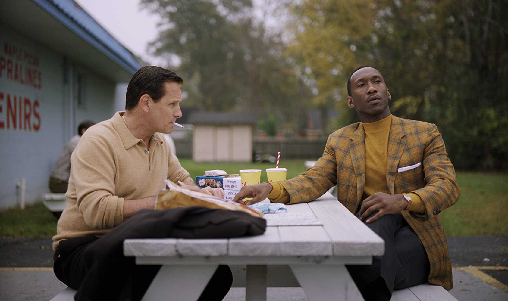 Viggo Mortensen and Mahershala Ali in Green Book (2018)