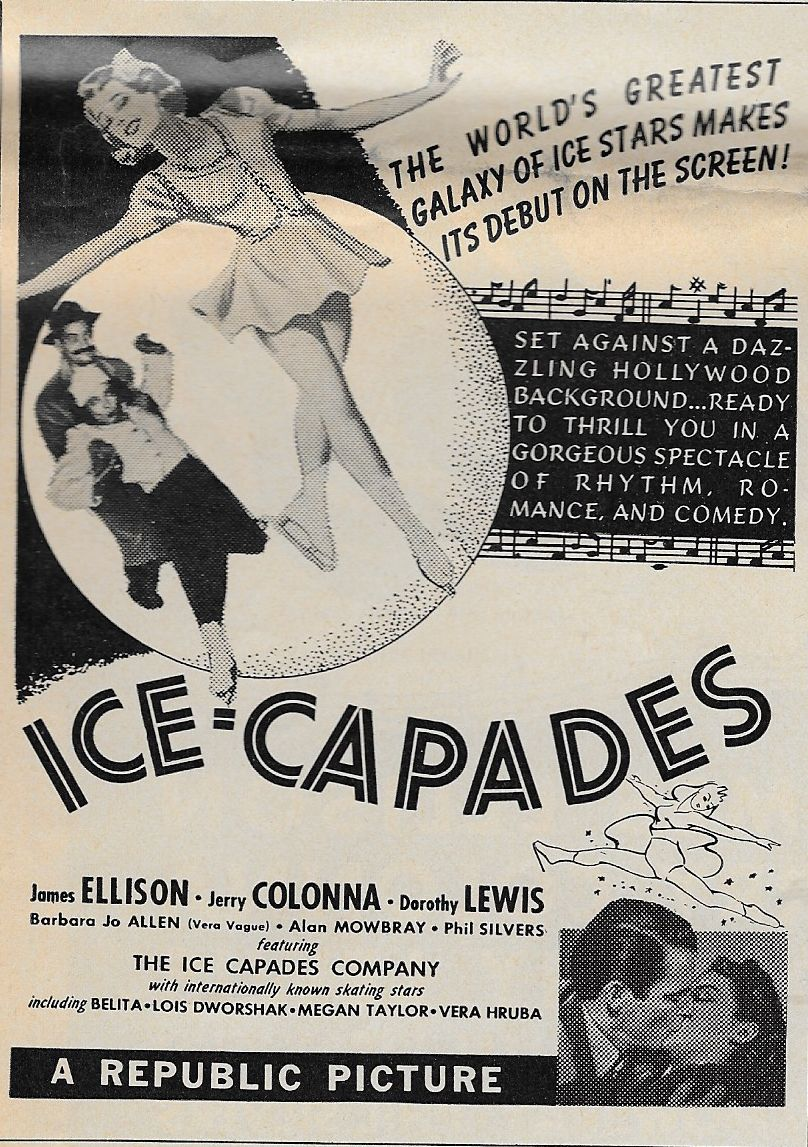 Barbara Jo Allen, Jerry Colonna, James Ellison, and Dorothy Lewis in Ice-Capades (1941)