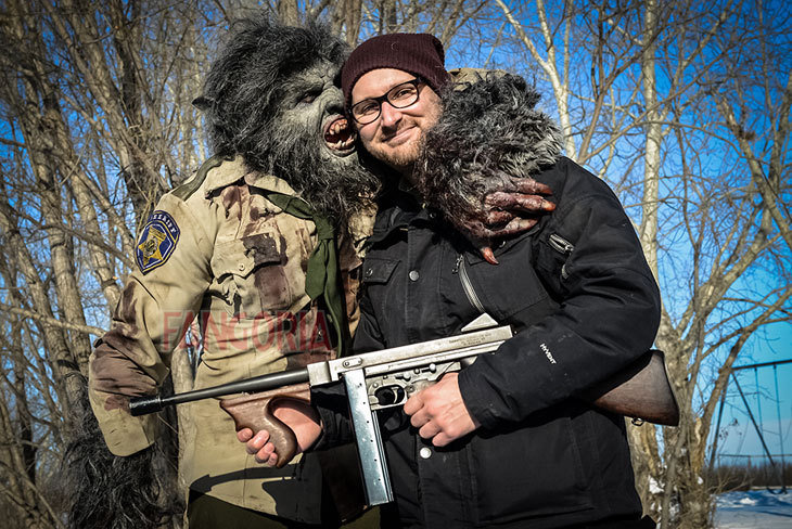 Leo Fafard and Lowell Dean in WolfCop (2014)
