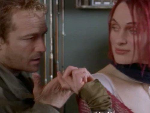 Luke Perry and Dominika Juillet in Jeremiah (2002)