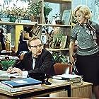 Andrey Myagkov and Svetlana Nemolyaeva in Sluzhebnyy roman (1977)