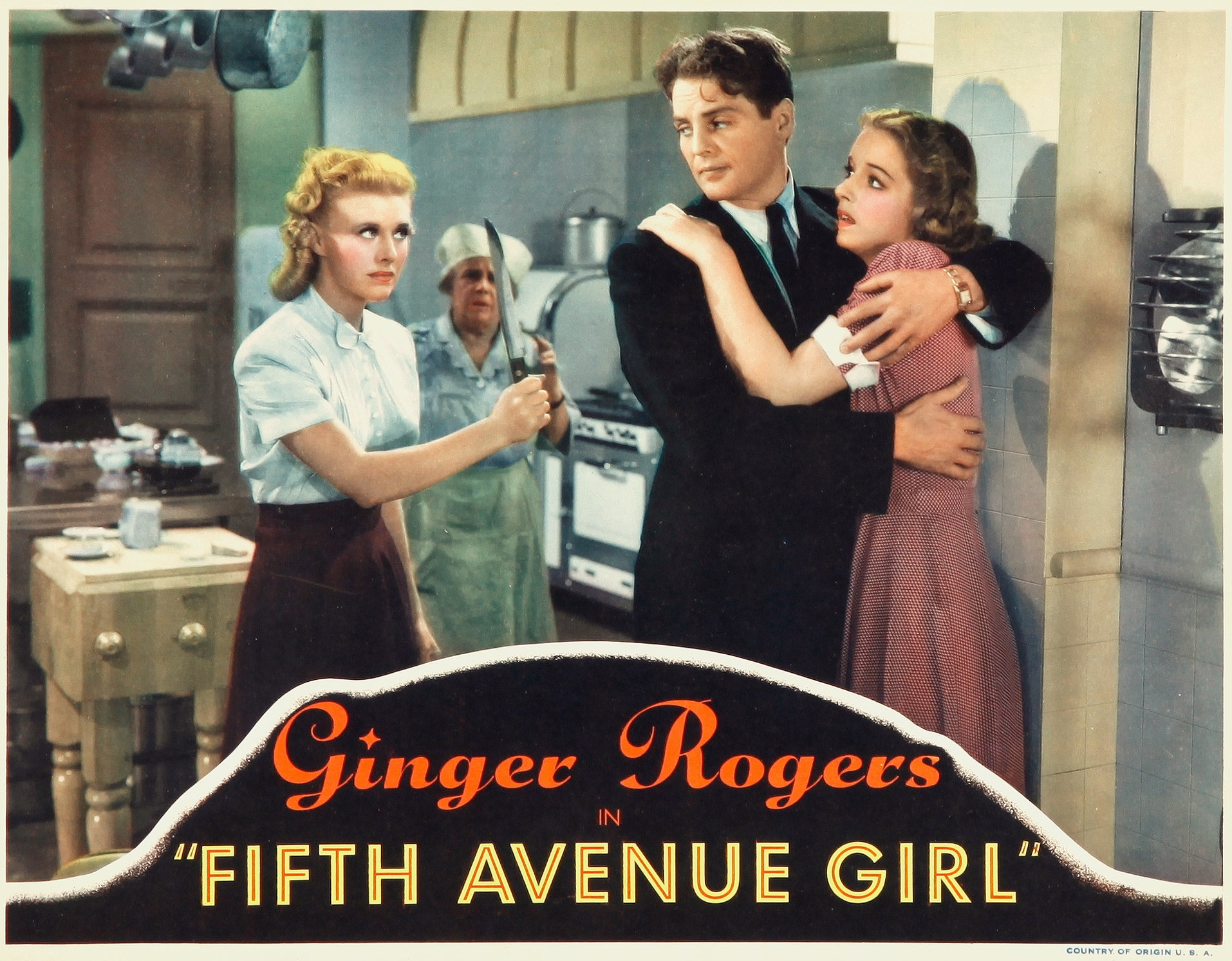 Ginger Rogers, Kathryn Adams, Ferike Boros, and James Ellison in Fifth Avenue Girl (1939)