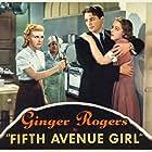 Ginger Rogers, Kathryn Adams, Ferike Boros, and James Ellison in Fifth Avenue Girl (1939)
